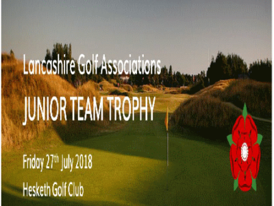 PMD Sponsors The Lancashire Golf Associations Junior Team Trophy