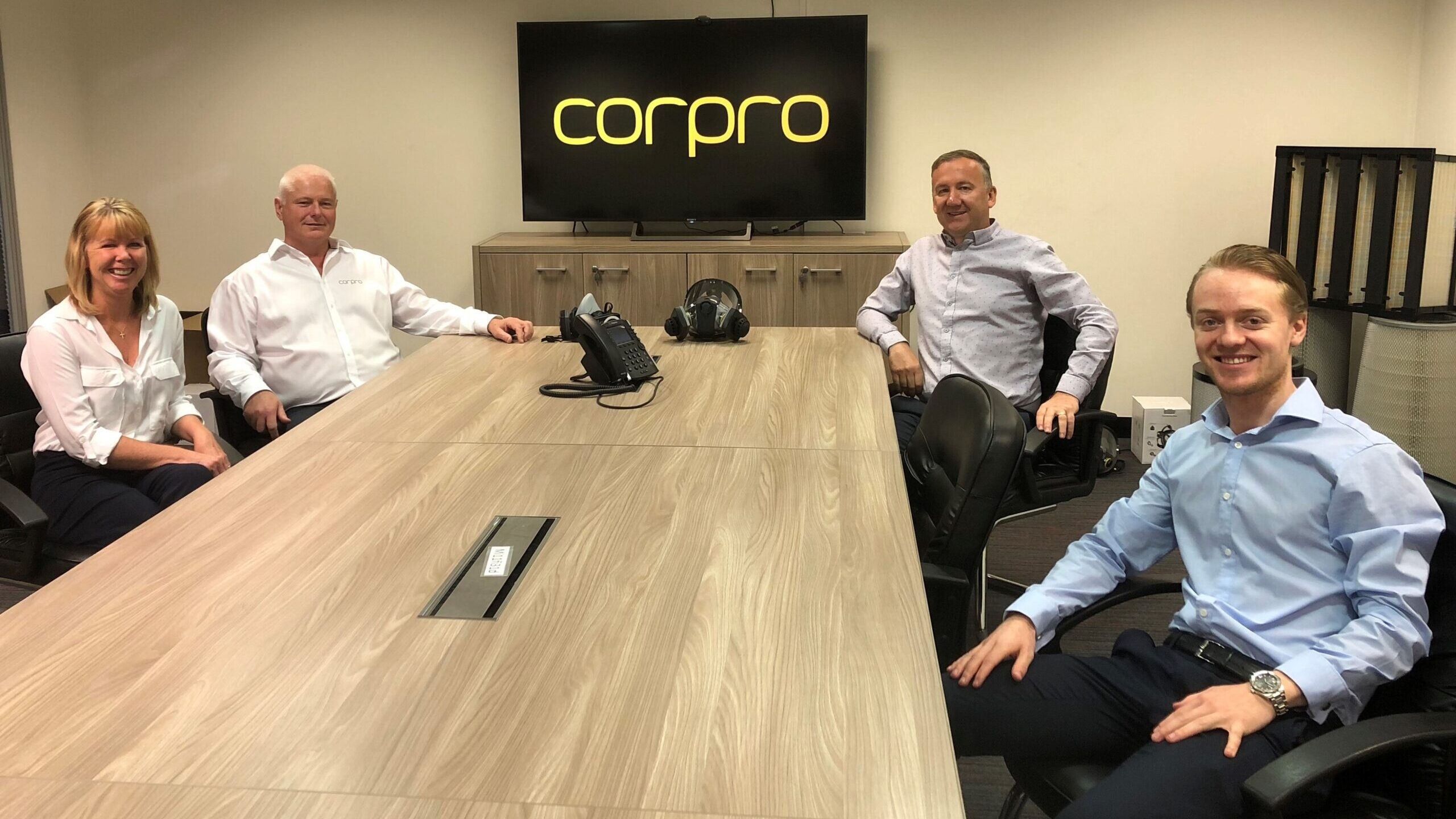 June Scott and Phil Scott of Corpro, Callum Bull of PMD Business Finance and Neil Emmott of Zone Commercial Finance
